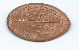 16917 - PIECE ECRASÉE - LA POINTE COURTE - SÈTE - Pièces écrasées (Elongated Coins)