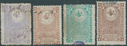 Turchia Turkey Ottomano Ottoman , Revenues Stamps ,used In Four Different Values - 1858-1921 Ottoman Empire