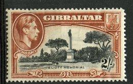 Gibralter 1938 2sh Eliott Memorial Issue  #115a  MH  Perf 14 - Gibraltar