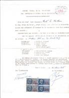 T.F S.U N° 150 (X2), 168 (X2) Sur P.V Compagnie D'Arc De Canly (Oise)..1958 - Fiscaux