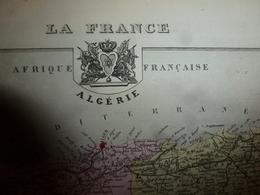 1880 ALGERIE  (Alger,Constantine,Oran,Bône,Sétif,Tlemcen,Bougie,Guelma,etc) Carte Géo-Descriptive: Edit Migeon,géograph - Cartes Géographiques