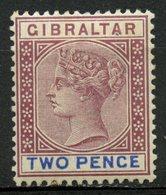 Gibralter 1898 2p Queen Victoria Issue #13  MH - Gibraltar