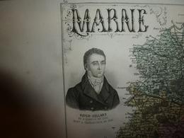 1880 MARNE (Chalons,Epernay,Reims,Vitry,Ste-Menehould,Vertus,AÏ,Beine,etc) Carte Géo-Descriptive: Edit Migeon,géographe - Cartes Géographiques