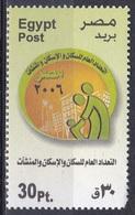 Ägypten Egypt 2006 Staatswesen Statistik Statistics Volkszählung Census Gebäudezählung Grundstückszählung, Mi. 2313 ** - Unused Stamps