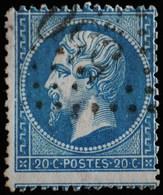 NAPOLEON III. .n°22.O.550 BOULOGNE SUR SEINE.( Piquage Décalé ) - 1862 Napoléon III