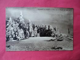 Cpa Photo SOMMET Du CHAMP De FEU Sous La Neige Avec La TOUR ( Alt. 1100 M ) - Editeur Alf. Bohy A Fouday - France