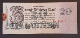 EBN8 - Germany 1923 Banknote 20 Millionen Mark P.97a 7 Digits - [ 3] 1918-1933: Weimarrepubliek