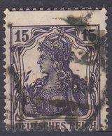 GERMANIA - ALLEMAGNE - 1917 - Yvert 100 Obliterato, Non Centrato. - Alemania