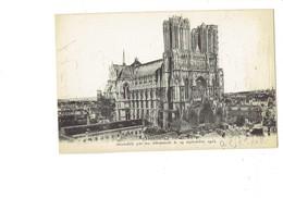 Cpm - 51 - Reims - Cathédrale -  Travaux échafaudage - ND 218 - 1916 - Reims