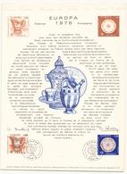 """Document De La Poste """" Europa 1976 """" Faïence Porcelaine Du 8 Mai 1976 à Paris - Documents De La Poste"""