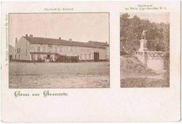 CPA Gruss Aus GRAVELOTTE - Gasthof E. Driant - Denkmal Des Rhein Jäger Bataillon N°8 - Otros Municipios