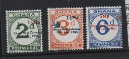 LOT 21 - GHANA TAXES  N° 16/18 ** - TIMBRES TAXES - Ghana (1957-...)