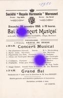 MORESNET ( Plombières ) SOCIETE ROYALE  HARMONIE 1950 - Programmes