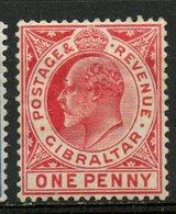 Gibraltar 1907 1p King Edward VII Issue #51  MH - Gibraltar