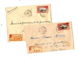 2 Lettre Recommandee Pointe à Pitre 1944 Sur Bateau - Guadeloupe (1884-1947)