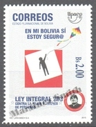 Bolivia - Bolivie 2015 Yvert 1579, America UPAEP, Avoid Violence - MNH - Bolivie