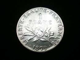 1 FRANC ARGENT SEMEUSE DE ROTY 1899   GAD 467   (  Lotplbleu3/2  ) - France