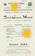 MORESNET Plombières SOCIETE ROYALE  HARMONIE 1954 - Programmes