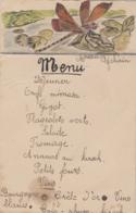 Menus - Menu - En-tête Aquarelle Libellule - Menus