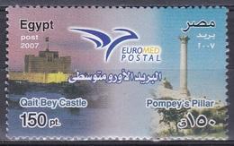 Ägypten Egypt 2007 Organisationen Postwesen Euromed Postal Qaitbey-Festung Pompeiussäule Alexandria, Mi. 2338 ** - Ägypten