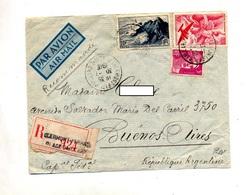 Lettre Recommandee Clermont Ferrand Sur Raz Avion  Gandon - Marcophilie (Lettres)