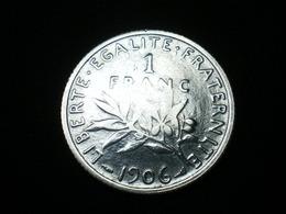 1 FRANC ARGENT SEMEUSE DE ROTY 1906   GAD 467   (  Lotplbleu3/5  ) - Frankreich