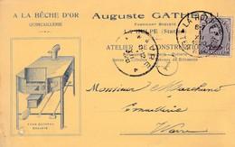 La Hulpe ,  Carte Publicitaire ,A La Bêche D'Or , Auguste Gatheau - La Hulpe