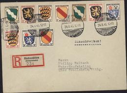 Allemagne Occupation Française YT Zone Française Briefpost 1 à 10 Dont N° 5 Recommandé Hahnstätten CAD 24 8 46 - Zone Française