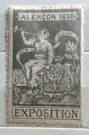 ALENCON 1898  EXPOSITION   ERINNOFILO CHIUDILETTERA ETICHETTA PUBBLICITARIA - Otros