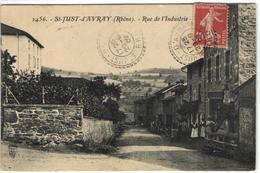 1 Cpa Saint Just D'avray - Rue De L'industrie - Sin Clasificación