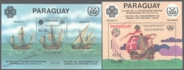 Paraguay 1983 Michel Block 392-93, 490th Ann. Discovery Of America, Ships - Miniature Sheet - MNH - Paraguay