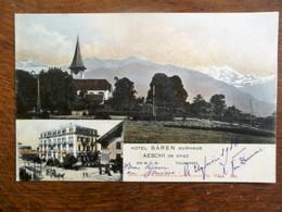 Oude Postkaart 1918   Hotel  BAREN  Kurhaus   AESCHI  ON Spiez    ZWISTERLAND - ZH Zurich