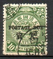 ASIE - (CHINE - EMPIRE) - 1904 - Taxe - N° 6 - 10 C. Vert - (Dragon) - Oblitérés