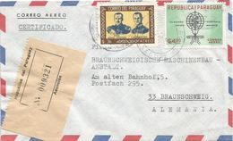Paraguay 1963 Asuncion Malaria Campaign Musquito Insect President Stroessner Registered Cover - Disease