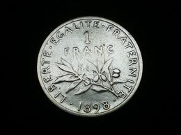 1 FRANC ARGENT SEMEUSE DE ROTY 1898   GAD 467   (  Lotplbleu3/14 ) - Frankreich
