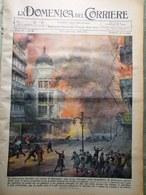 La Domenica Del Corriere 12 Novembre 1938 Incendio Marsiglia Fantasmi Mussolini - Libri, Riviste, Fumetti