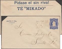 Chili 1905. Entier Postal Enveloppe. Demandez Le Thé Mikado, Sans Rival - Boissons