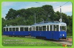 Voyo POLAND CRACOW Monthly Ticket  Wagon N And ND Tram 2004/5 Plastic Card - Week-en Maandabonnementen