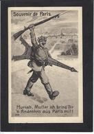 CPA Carte Allemande Tour Eiffel Anti Germany Caricature Satirique Patriotique Kaiser Non Circulé - War 1914-18