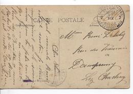 AP1550/ CP Bruges Le Béguinage C.PMB-BLP 7 Mois à L'envers 27/12/1918 V.Dampremy C.d'arrivée Fortune Belgique - Guerre 14-18