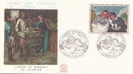FRANCE FDC DU 10 DECEMBRE 1966 MARSEILLE H. DAUMIER - 1960-1969
