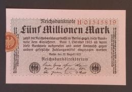 EBN8 - Germany 1923 Banknote 5 Millionen Mark P.105 #H.01545819 - [ 3] 1918-1933: Weimarrepubliek