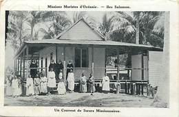 Pays Div -ref P861- Missions Maristes D Oceanie - Iles Salomon - Un Couvent Des Soeurs Missionnaires  - - Missions