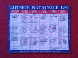 ANTIGUA TARJETA HORÓSCOPO LOTERIE NATIONALE 1983 83 LOTO FRANCIA ? FRANCE ? HOROSCOPE ONOMÁSTICA FECHAS DÍAS NOMBRES - Sin Clasificación