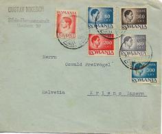 ROMANIA 1946 Cover Sent To Luzern 6 Stamps COVER USED - 1918-1948 Ferdinand, Carol II. & Mihai I.