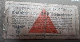 10 Reichspfennig Wehrmacht Camp De Prisonniers - 1939-45