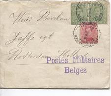 AP1552/ TP 137(2)-138 S/L.PMB-BLP 1916 Griffe Postes Militaires écrite De Coutances V.Hollande - Guerre 14-18