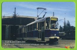 Voyo POLAND CRACOW Monthly Ticket  Wagon 102N Tram 2005 Plastic Card - Abbonamenti