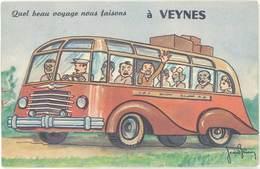 CP Ville Système Dépliant – .. Veynes ( Hautes-Alpes, Autobus ), Signée Jean Brian - France