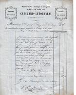 1872 - CLUNY - Magasin De SEL - FROMAGES En Tous Genres - GREUZARD -LETOURNEAU - France